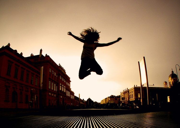 Happy-woman-jumping