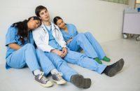 doctors-sleeping-in-a-corridor